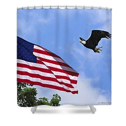 Shower Curtain featuring the photograph Freedom Feeds The Family by Randall Branham