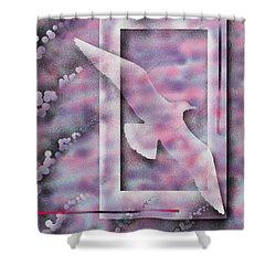 Freedom Shower Curtain by Hakon Soreide