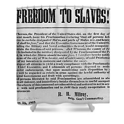 Freedom To Slaves Shower Curtain by Photo Researchers