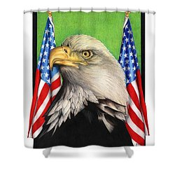 Freedoms Pride Shower Curtain by Sheryl Unwin