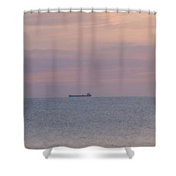 Shower Curtain featuring the photograph Freighter by Bonfire Photography