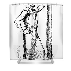 French Abolitionist, 1850s Shower Curtain by Granger