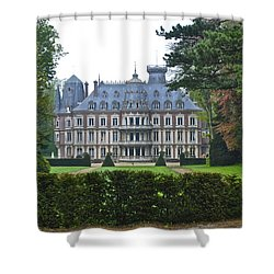 French Country Mansion Shower Curtain