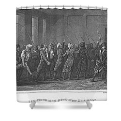 French Revolution, 1793 Shower Curtain by Granger