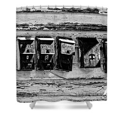 Freret Street Mailboxes - Black And White -nola Shower Curtain by Kathleen K Parker