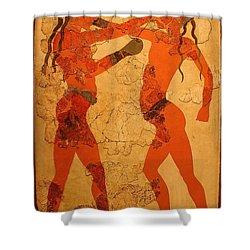 Fresco Of Boxing Children Shower Curtain