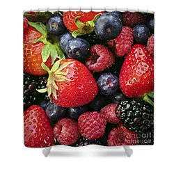 Fresh Berries Shower Curtain by Elena Elisseeva