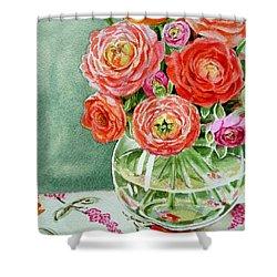 Fresh Cut Flowers Shower Curtain by Irina Sztukowski