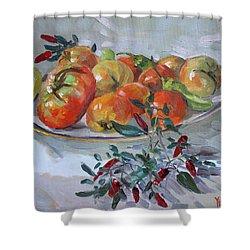 Fresh From The Garden Shower Curtain by Ylli Haruni