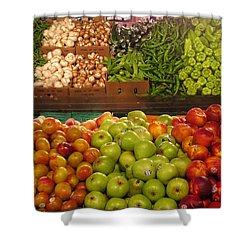 Fresh Market Series. Bounty. Shower Curtain by Ausra Huntington nee Paulauskaite