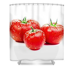 Fresh Tomato Shower Curtain by Setsiri Silapasuwanchai
