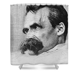 Friedrich Wilhelm Nietzsche, German Shower Curtain by Photo Researchers