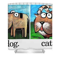 Friendly Four Poster Shower Curtain by Tim Nyberg