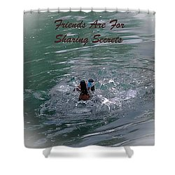 Friends Are For Sharing Secrets Shower Curtain by DigiArt Diaries by Vicky B Fuller
