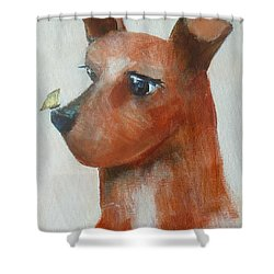 Shower Curtain featuring the painting Friends Are Friends by Dan Whittemore