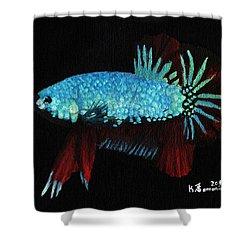 Frilled Blue Moonstone Shower Curtain by Kayleigh Semeniuk