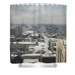 From Atop The Guardian 1758 Shower Curtain by Michael Peychich