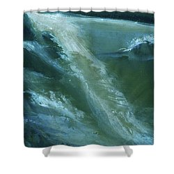 From Darkness To Light Shower Curtain by Anil Nene