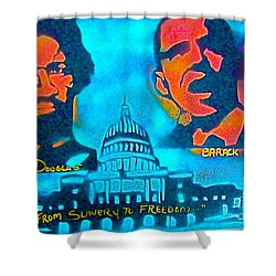 From Slavery To Freedom Shower Curtain by Tony B Conscious