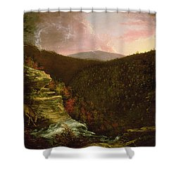 From The Top Of Kaaterskill Falls Shower Curtain by Thomas Cole