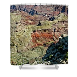 Shower Curtain featuring the painting From Yaki Point 6 Grand Canyon by Bob and Nadine Johnston