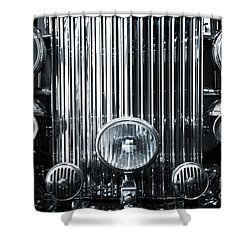 Front Grid Shower Curtain by Carlos Caetano