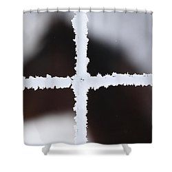 Frost Coveredwire Fence And Horse Shower Curtain by Mark Duffy