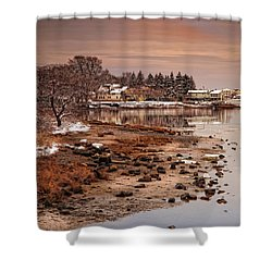 Frosty Sunset Shower Curtain
