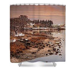 Frosty Sunset Shower Curtain