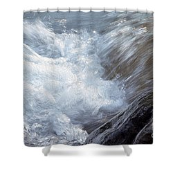 Froth Shower Curtain by Sharon Talson