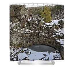 Frozen Sink Hole Shower Curtain by Roderick Bley