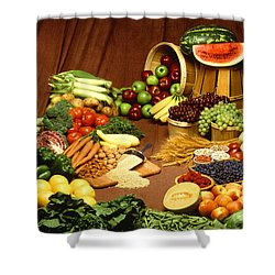 Fruit And Grain Food Group Shower Curtain by Photo Researchers