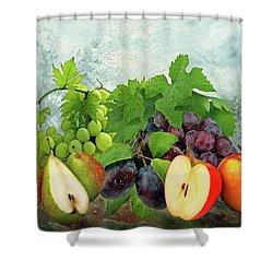Fruit Garden Shower Curtain by Manfred Lutzius