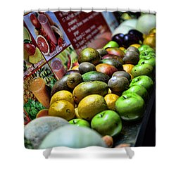 Fruit Stand Shower Curtain by Paul Ward