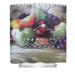Fruit Still-life  Shower Curtain by Kay Novy