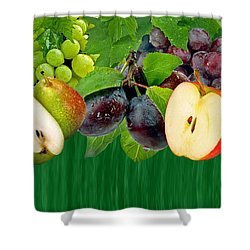 Fruits Shower Curtain by Manfred Lutzius