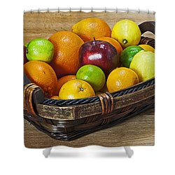 fruits with vitamin C Shower Curtain by Joana Kruse
