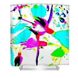 Shower Curtain featuring the digital art Fuchsia by Barbara Moignard