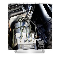 Fuel Injection System Shower Curtain by Photo Researchers