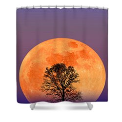 Full Moon Shower Curtain by Larry Landolfi and Photo Researchers