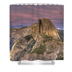 Full Moon Rise Behind Half Dome Shower Curtain