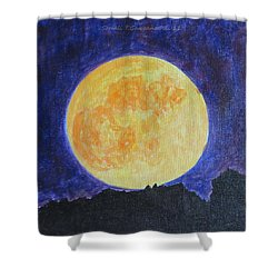 Shower Curtain featuring the painting Full Moon by Sonali Gangane