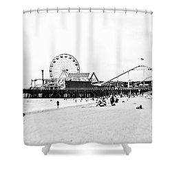 Fun At The Beach Shower Curtain by Scott Pellegrin