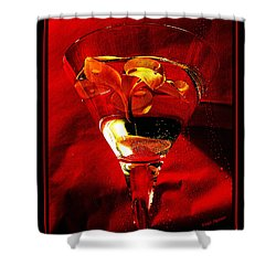 Fun In A Glass Shower Curtain by Kaye Menner