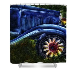 Funky Old Car Shower Curtain by Susan Candelario