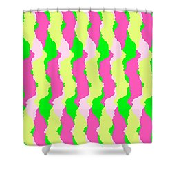 Funky Stripes Shower Curtain by Louisa Knight