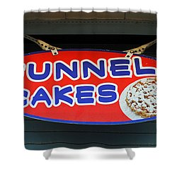 Funnel Cakes Shower Curtain by Skip Willits