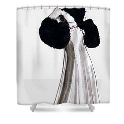 Fur Coat Shower Curtain by Mel Thompson