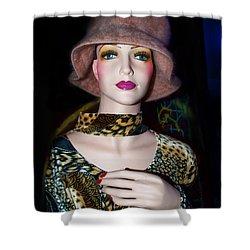 Fur Hat Dummy Shower Curtain