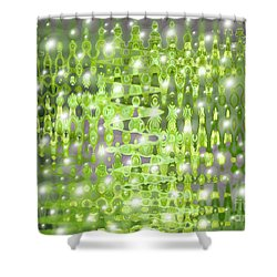 Future Forest Abstract Shower Curtain by Carol Groenen